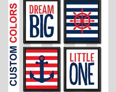 nautical baby gift nautical theme nursery nautical decor nursery nautical playroom decor nautical toddler decor nautical kids room prints SET OF 3.  Suprise your friends with this perfect and sweet set of 3 art prints, or suprise your family! :)    ❤ - - - - - - - Need to know - - - - - - - ❤  ● You can choose your size before you add this item to cart. ● Included: 3 pcs art prints ● Print is professionally printed on heavyweight, acid free, archival photo paper with premium inks. ● Unmatted…