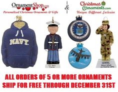 OrnamentShop.com: Free Shipping on Military Ornaments