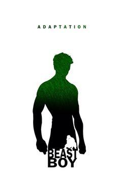 Superhero silhouettes and attributes by Steve Garcia: Beast Boy.
