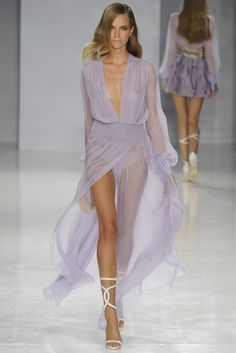 A touch too sheer for public consumption, but it's it lovely?! That color: ethereal!! RTW Spring 2014 - Slideshow - Runway, Fashion Week, Reviews and Slideshows - WWD.com jaglady