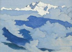 Nicholas Roerich (Russian, 1874-1947), Kanchenjungafrom the Himalayan series, 1924. Tempera on canvas laid down on board, 29.8 x 40 cm.