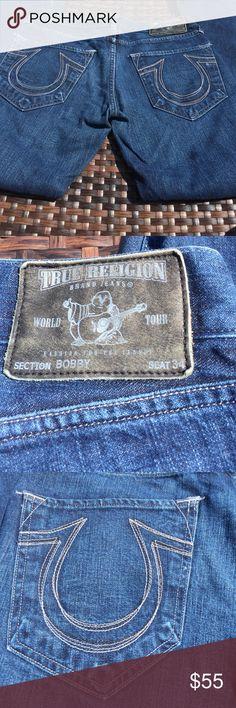 True Religion Men's Bobby 31 x 34 Jeans True Religion Men's Jeans, Bobby style, size 31 waist, 34 inseam, 5 pockets. True Religion Jeans Bootcut