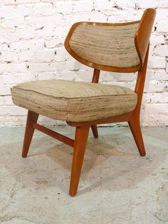 Herta-Maria Witzemann; Cherry Easy Chair for Schörle & Gölz Stuttgart, 1957.