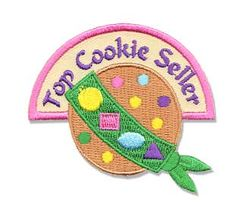 Top cookie seller patch placement