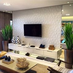 43 Amazing TV Wall Decor Ideas for Living Room Living Room Tv Unit, Home, Apartment Living Room, Living Room Decor, House Interior, Living Room Wall, Room Decor, Tv Room Design, Living Room Tv Wall