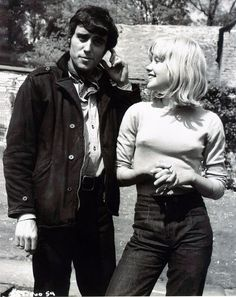 Ian McShane & Hayley Mills while filming Skywest & Crooked 1966. I want to see this!