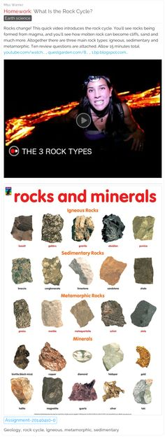 What Is the Rock Cycle? Video, chart & quiz. #free #lessons