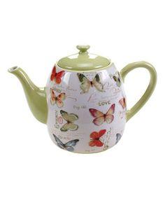 Look at this #zulilyfind! Rainbow Seeds Earthenware Lidded Teapot #zulilyfinds