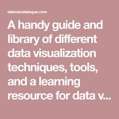 A handy guide and library of different data visualization techniques, tools, and a learning resource for data visualization.