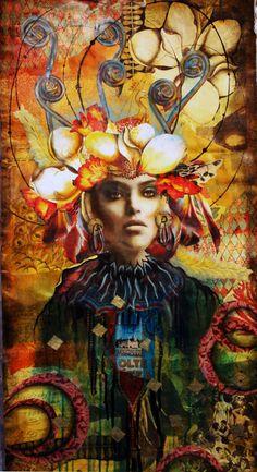 Queen of Wands (Tarot Series)