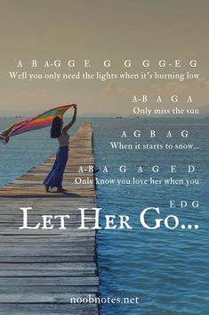 Let Her Go - Passenger - music notes for newbies A simple transposition for 'Let her go' by Passenger – great piece for absolute beginners across instruments, no sharps or flats, enjoy A Piano Sheet Music Letters, Clarinet Sheet Music, Piano Music Notes, Easy Piano Sheet Music, Violin Music, Music Sheets, Band Nerd, Passenger Music, Piano Songs For Beginners