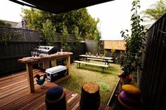 Sophie and Dale's Garden. A combination of both decking and grass makes for a great backyard. #theblock2012