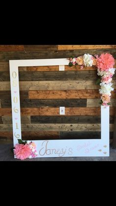 Bridal shower photo booth frame