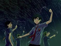 Harry Potter, James Potter, Sirius Black, Remus Lupin, Peter Pettigrew