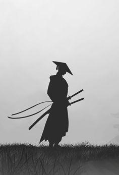 Ronin by ReDrum 47 via Behance Ninja Kunst, Arte Ninja, Ninja Art, Ronin Samurai, Samurai Warrior, 47 Ronin, Samurai Tattoo, Ronin Tattoo, Demon Tattoo
