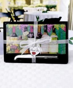 Cheeseboard And Knife Sets - Wine Motif at WeddingFavors.org