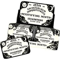 Ouija Board tin of mints - print out party invitation and place inside the tins?