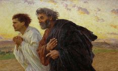 My father's favorite painting and I love it too. / Eugenè Burnand, The Disciples Running to the Sepulchre, 1898.