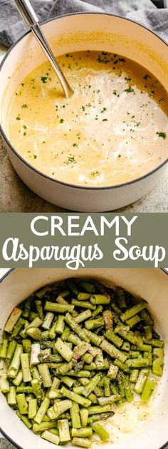 Creamy Asparagus Soup – Fresh, healthy and delicious asparagus soup prepared with just 6 ingredients! Creamy Asparagus Soup – Fresh, healthy and delicious asparagus soup prepared with just 6 ingredients! Best Asparagus Recipe, Grilled Asparagus Recipes, Creamy Asparagus, Baked Asparagus, Chicken Asparagus, Grilled Chicken, Healthy Soup Recipes, Chili Recipes, Healthy Dinner Recipes