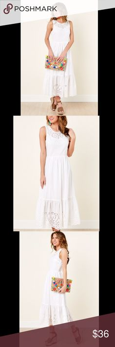 Small Lulus white lace midi Brand new with tags   Bought this but it was too small on me Lulu's Dresses Midi