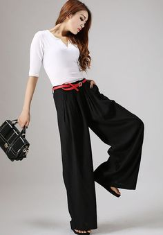 Women Wide Leg High Waist Casual Crop Pants Chiffon Summer Loose Culottes Trousers Hot To Reduce Body Weight And Prolong Life Bottoms
