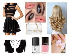 """""""PARTY!!"""" by sanchez-ashley ❤ liked on Polyvore featuring Design Inverso, NARS Cosmetics, LVX and kitsch island"""