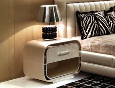A selection of 20  modern nightstands for the luxury bedroom, which range in style and aesthetic, fit to suit any master bedroom.