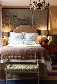 Madeline Weinrib Sailing Denim Carpet, in bedroom of designer Megan Yager.