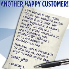 This note from a customer was #inspirational to us at Crown Awards. Thank you! #FathersDay #gift from kids to their #Dad.