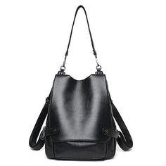 3e186c8e9a Ekphero Genuine Leather Multifunctional Crossbody Bag Shoulder Bags Backpack