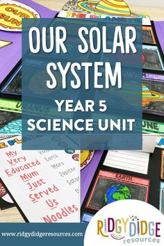 Help your students understand our solar system with this unit plan and lapbook. Bring astronomy alive as the unit plan walks you through everything you need to thoroughly cover the ACSSU078 element of the Australian Science Year 5 curriculum. Space Activities For Kids, Space Crafts For Kids, Science Activities, Weather Experiments, Cool Science Experiments, Lap Book Templates, Unit Plan, Australian Curriculum, Classroom Posters