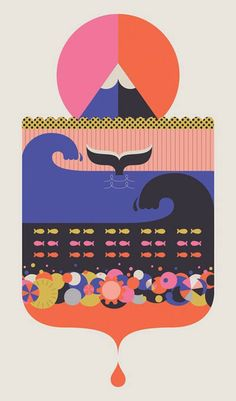 Illustration from the 'Drop in the Ocean' series by British designer Vicki Turner.
