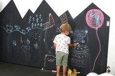 17 Kids Chalkboard Art WallHow to turn a textured wall into a smooth wall Kids Chalkboard, Blackboard Paint, Smooth Walls, Art And Craft, Image Notes, E Design, Free Images, Glass Door, Blog