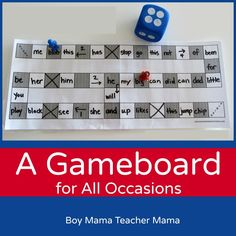 A Game Board for All Occasions - Could be used for review games