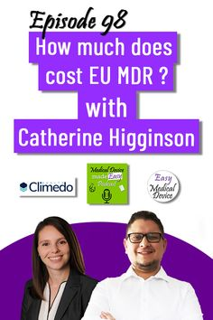 Monir El Azzouzi and Cathering Higginson from Climedo #medicaldevicepodcast #medicaldevice #medicaldevices #regulatoryaffairs #easymedicaldevice #regulatorycompliance #compliance #meddevice #iso13485 #eumdr2017745 #eumdr #mdr2017745 #ivdr #ivdr2017746 #notifiedbody #qualitymanagement #qualitymanagementsystem #regulation #regulations #qualitysystem #medtech #podcast #podcasting #podcaster #podcastinterview #podcastshow