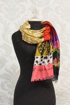 Carpentree 113692 Scarf-With God All Things Are Possible-Self-Fringe Paisley Warm Autumn, Fall Winter, Christian Clothing, Viscose Fabric, Plaid Scarf, What To Wear, Paisley, Ready To Wear