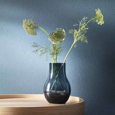 Shop the Georg Jensen Cafu Modern Classic Blue Glass Vase - Medium and other Decorative Vases at Kathy Kuo Home Blue Glass Vase, Home Decor Vases, Burke Decor, Aesthetic Design, Organic Shapes, Danish Design, Modern Classic, Scandinavian Design, Deco