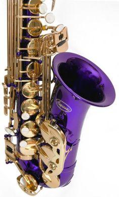 PURPLE/Gold Alto Saxophone Lazarro