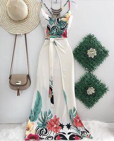 Best Summer Fashion Part 5 Star Fashion, Trendy Fashion, Fashion Looks, Fashion Outfits, Womens Fashion, Paris Fashion, Moda Tropical, Moda Do Momento, Tropical Fashion