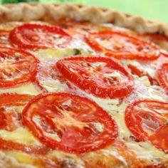 Tomato, Bacon, and Onion Quiche Recipe