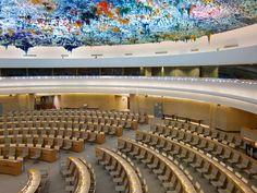 Geneven suosituimpia käyntikohteita YK:päämaja, Nationsin kaupungiosassa.