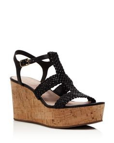 kate spade new york Tianna Woven Platform Wedge Sandals