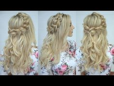 How to: Half Up Pull Through Braid - YouTube video tutorial