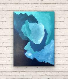 Original Acrylic abstract artwork Original Artwork, Artworks, Abstract Art, Blues, The Originals, Canvas, Painting, Tela, Painting Art