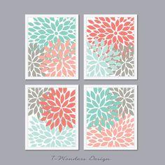 A la venta moderno abstracta flor estalla por 7WondersDesign
