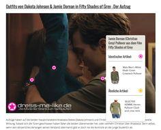 Jamie Dornan (Christian Grey) Pullover (Malo Men's White Khaki Green Crewneck) aus dem Film Fifty Shades of Grey