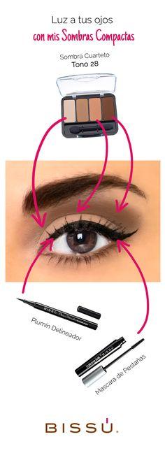¡Deslumbra a todos con tu mirada! http://tiendaweb.bissu.com/ojos/17-sombra-cuarteto.html