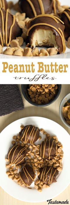 These peanut butter truffles are a fun twist on a classic dessert. Combine two delicious ingredients in a super easy recipe.