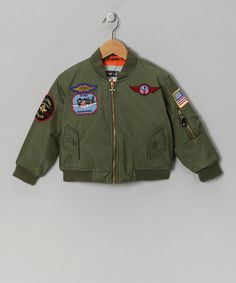 Take a look at this Punita Leathers Olive Bomber Jacket - Toddler & Boys by Take Flight: Boys' Apparel on #zulily today!