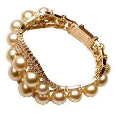 Style Bracelet from the Ri fashion love - Beauty Bling Jewelry Bling Jewelry, Pearl Jewelry, Jewelry Box, Jewellery, Golden South Sea Pearls, International Jewelry, Jewelry Trends, Fashion Bracelets, Bangles